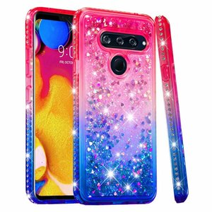 Cassa in TPU Liquid Liquid per Galaxy S10 S10e (A9 A7 J4 J6 Plus) Rivestimento in gradiente 2018 Bling Quicksand Shinny Luxury Cover in metallo cromato