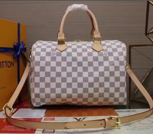 Hot clássico Brand new mulheres de qualidade Top real oxidante couro genuíno 25 30 35 bolsa sacola SPEEDY bolsa