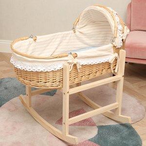211 Bassinet кроватке Массивная новорожденные Cradle Люлька младенцев Кровать усмирить встряхивания Nest Портативный Портативный Basket