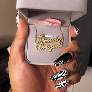 Regalo Collana Girocollo Nome Wanixm moda su misura in acciaio inox collana con farfalla per le donne personale della lettera d'oro