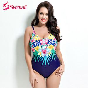 Swimall 2019 verano nueva ropa más el tamaño de impresión de una pieza del traje de baño de las mujeres Mujer maillot de bain femme monokini del traje de baño