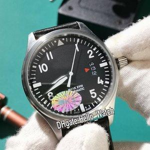 Yeni Mark XVIII Petit Prince Miyota 821A Otomatik Erkek İzle IW326501 Çelik Kasa Mavi Beyaz Numarası İşaretleyiciler Kahverengi Deri Hello_watch Dial