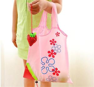 Hot criativa de saco de armazenamento ambiental Bolsa de morango dobrável sacos de compras reutilizáveis Folding Grocery Nylon eco Sacola