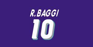 1994 Italia retro impresión de fútbol nameset # 10 R.BAGGIO futbolista etiqueta impresa estampación numeración leyendas del fútbol del vintage impresionado