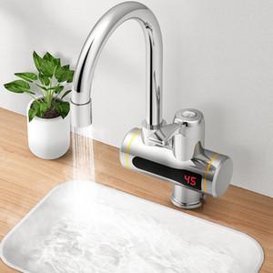 Instantâneo Tankless Elétrico Água quente aquecedor torneira da cozinha instantânea Aquecimento aquecedor de água da torneira com LED Display de temperatura