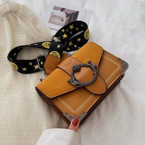 Nova moda diagonal fosco Xiaofang Baogang estilo popular de um ombro saco de lazer