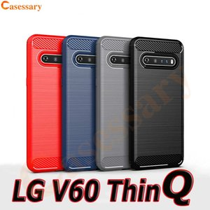 Carbon Fiber Brushed Texture Phone Case for LG K40 K51 V60 ThinQ Stylo 6 Moto G7 Power E6 Samsung A10e A20 A50 A51