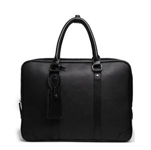 Alena Culian Herren Lederaktenkoffer-Laptop Office-Dokument-Beutel für Männer Business Bag Handtasche Male Messenger Bag portafolios