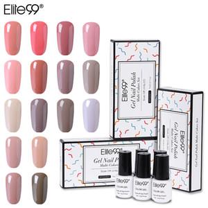 Elite99 5 Stück / Set für Nagellack Semi Permanent Emaille UV Soak Off Gel 7 ml Nude Color Gel Naill Polish mit Geschenk-Box