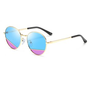 High Quality Top Children's Sunglasses UV400 Metal Frame Personality Sunglasses Boys And Girls HD Sunglasses Student Glasses To Send Boxes