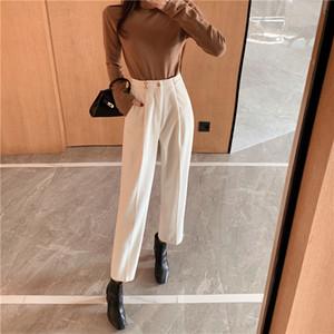 Yeni Kadın Harem Pantolon Bahar Kadife Yüksek Bel Pantolon Günlük Pantolon Vintage İnce Pantolon Kadın