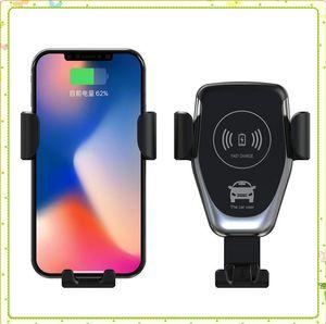 C12 10W Support voiture Chargeur sans fil pour iPhone XS Max XR X rapide Qi charge rapide Support de téléphone de voiture pour Samsung S10 S9 S8 plus MQ20