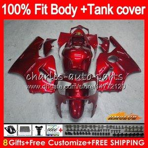 Inyección para Kawasaki ZX 12R 1200 cc ZX1200 ZX12R 02 03 04 05 06 metal rojo 52HC.10 nueva ZX 12 R ZX12R 2002 2003 2004 2005 2006 OEM carenados