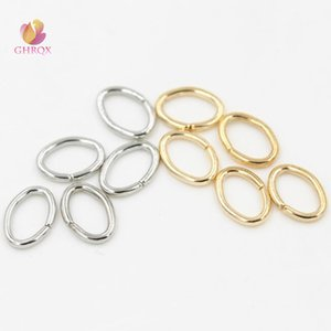 Making Jewelry Findings & Components gold Plating oval Jump Rings & Split Rings Jewelry Finding Fit Earring Necklace Bracelet Making...