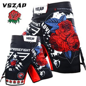 VSZAP Rose Shorts Kick Boxing Muay Thai Shorts Trunks BJJ Fitness Formação Sanda Boxe fight wear Grappling Pants