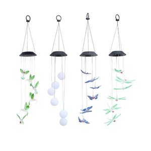 borboleta Solar lâmpada LED Hummingbird Luz Wind Chimes luz da lâmpada impermeável Eco-Friendly Supplies Wind Chimes Início Garden Party Decor