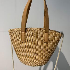 Bolsa de Praia Straw Bag Mini viagem Duffle Luggage Bag Moda Crochet alta qualidade Plain G Carta Mulheres Crossbody Sacos
