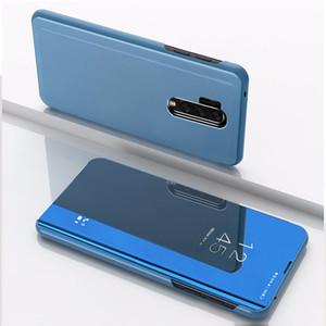 Galvanoplastie Miroir flip Stand Case Pour OnePlus 8 Pro 7T Pro 7 6T Pro 6 Oppo A9 2020 Realme 3Pro Realme 5 C2