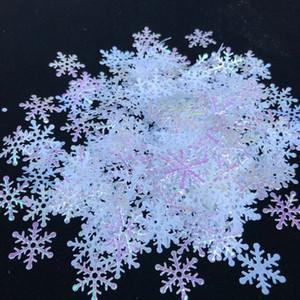 300pcs Classique Brillant Décor de flocon de neige Décorations d'arbre de Noël Décoration de vacances Fête Fête neige artificielle Home Décor