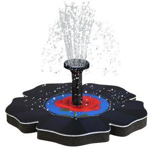 로즈 태양열 펌프, 새 목욕 분수 물 떠있는 연못 정원 안뜰 장식 뜨거운 판매 # 20190321