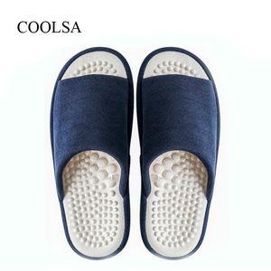 Pantofole da bagno massaggianti piatti massaggiati per l'estate coperta da uomo COOLSA Camera da letto antiscivolo Pantofole da casa