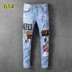 2019 Top-Qualität 016 amiri Jeans berühmte Marke Designer-Jeans Männer Mode Streetwear Herren Biker Jeans Mannhosen