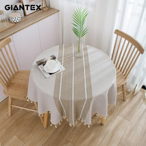GIANTEX Decorative Table Cloth Cotton Tablecloth Round Tablecloths Dining Table Cover Obrus Tafelkleed mantel mesa nappe T200707