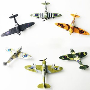 New Gifts for the New Year 4D Spitfire Intercept Fighter Painted Version 1:48 Military Assembled Model Aircraft Educational Toys