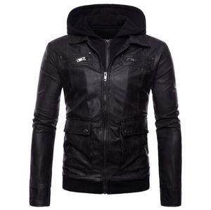 Бесплатная доставка новый бренд мужская кожаная куртка мужчины с капюшоном теплые зимние кожаные пальто мужчины мотоцикл плюс размер пальто одежда