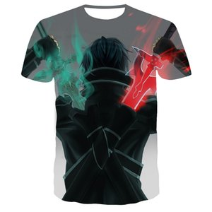 2020 новый символ веры ТЕННИСКА Убийцы Sword Art Online 3D-мужская футболка косплей аниме 3D напечатаны футболки мужчин и женщин 110-6XL