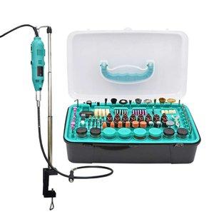 Broca elétrica Rotary Power Tool kit Mini broca com carrinho de polimento de corte braçadeira Acessórios Para Dremel Máquina