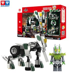 AULDEY Super Armor Warriors Hunter Elephant Transforming Robot Building Blocks Series Assembly Bricks Set детские рождественские подарки игрушки 07
