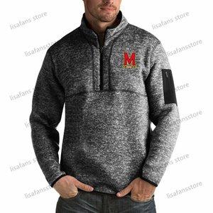 Maryland Terrapins Sweater Herren Fortune-Big Hoch Quarter-Zip Pullover Jacken genähtes College Football Sports Hoodies