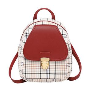 Mini sac à dos sac à bandoulière pour Teenage Girl Plaid femmes épaule téléphone bourse coréenne Nouveau style à la mode Femme Bagpack