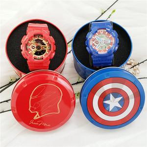 Buon regalo Tutti gli orologi Sport G Style Shock Guarda dell'eroe di meraviglia Uomo funzionale di lavoro multifunzionale LED 100 Guarda Marvel Limited Edition