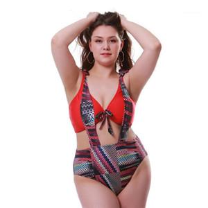 Mayo Seksi Bayanlar Yüksek Bel Artı boyutu Plaj Feamlse Çizgili Moda Giyim Kadın Kontrast Renk Yaz Bikini 2adet tulumları Giyer