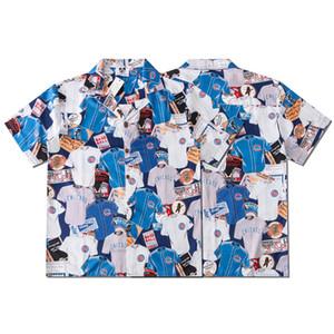 Europa América del verano del resorte mujeres de los hombres del deporte de béisbol fresco playa Camisa de manga corta ropa de calle ocasional de la manera Tee