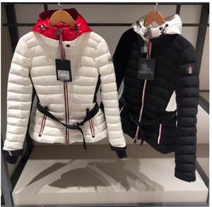 ceket Sıcak Kapşonlu Kısa ceket Sıcak Downs Coats 261 aşağı TOP İYİ Bayan Doğa Sporları Down Jacket Kış Su geçirmez beyaz ördek