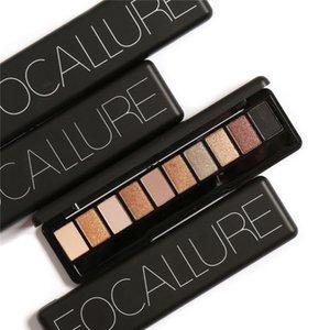 Focallure 10 colores sombra de ojos nudo paleta efecto piel desnuda Paleta de sombra de ojos sombra para Cejas maquillaje Set Maquiagem