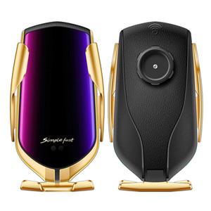 R2 Funk-Kfz-Ladegerät 10W schnelle drahtlose Auto-Halterung Air Vent Gravity-Telefon-Halter Kompatibel für iphone Samsung LG Alle Qi-Geräte