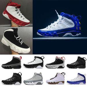 Toptan 9 Adam Basketbol Ayakkabı siyah beyaz altın doernbecher serin gri Barons Antrasit Ruh 2010 yayın spor sneaker