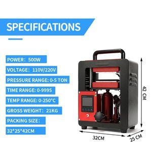 AP1905 Rosin Press Machine 2.4x4.7 pollici 1000W doppio piastre riscaldate cera dell'olio kit portatile strumento di estrazione 5ton idraulica