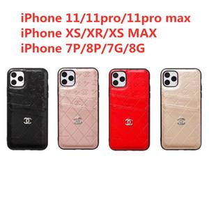 casos de telefone designer de luxo para iphone 11 Pro Max XR XS 6 7 8 mais PU couro Models transporte Telefone Voltar queda