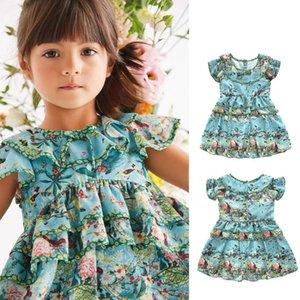 Kız Yaz Elbise Prenses Büyük Kız Elbise Robe Fille Kısa Kollu Kız Giyim Robe Enfant Fille Doğum Kız Parti Elbise