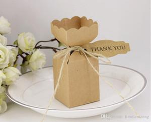 Ваза творческого DIY коробки конфеты мешок подарка ретро личность рождение крафт бумажные коробки украшение день рождения партия