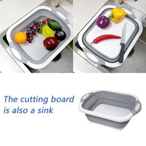 Multi-Funktions-Küche Chopping Block Tool faltbare Schneidebrett Küche Silikon-Schneidebretter, Gemüse, Obst, Waschkorb T200111