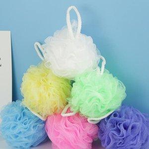 Colorful doccia spugna Mesh Pouf Bath Spa Doccia Scrubber palla colorata Bagno spugne Morto cellule della pelle Remover ZZA1839