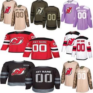 2019 Nachrichten New-Jersey Teufel-Hockey-Jerseys Die Gewohnheit der mehrfachen Arten Männer irgendein Name irgendeine Zahl Hockey-Jerseys