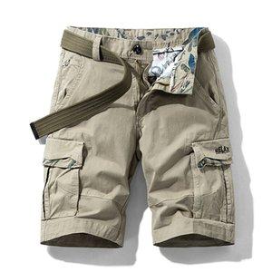 iiDossan Multi Pockets Cargo Shorts Men Summer Loose Work Shorts Man Military Casual Short Pants Camouflage Hip Hop Shorts CX200701