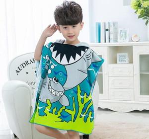 8 stili Mermaid Accappatoio Bambini Robes Cartoon Animal shark Camicia Da Notte per bambini Asciugamano Con Cappuccio accappatoi